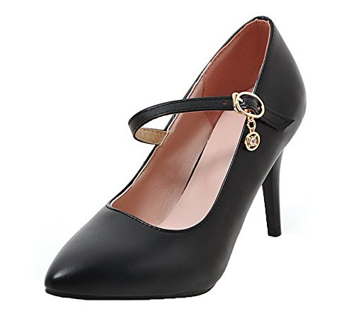 Boucle Talon Noir Haut Agoolar Dorteil Pu Cuir Chaussures Fermeture H7qBx5