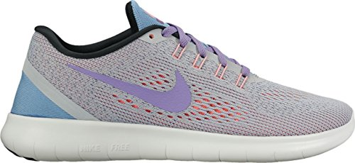 Nike Wmns Nike Free Rn - wolf grey/purple earth-work bl, Größe #:11.5 -