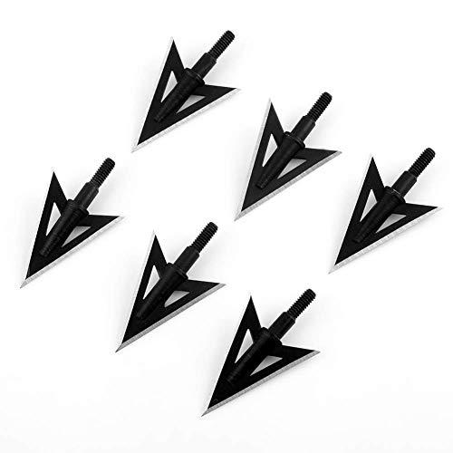 VERY100 6 Stück Pfeilspitzen Jagdspitzen für Bogen Armbrust Broadheads Recurve Compound