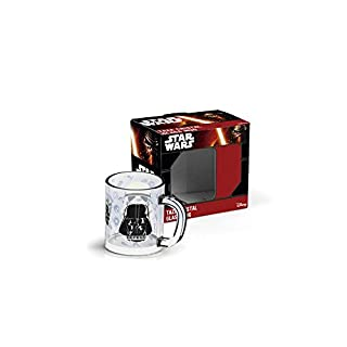 Arditex sw9505 Tasse aus Glas in Geschenkbox, Design Star Wars