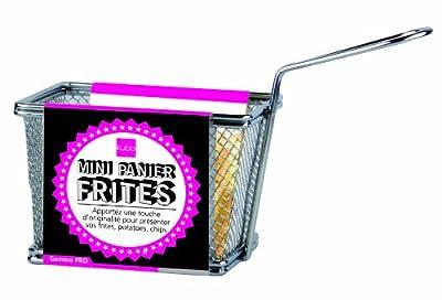 Kubb Mini Panier à Frites Décoratif Inox 18 x 7,5 x 13 cm Pour Présentation