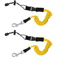 Sharplace 2X Cuerda de Seguridad Enrollada para Kayak Palas Remos Pesca Caña Color Amarillo