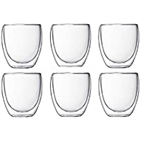 Set of 12pcs Double Wall Glasses Insulated Drink Glass Espresso Tea cup