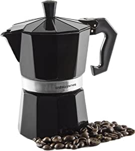 Andrew James Barista Coffee Maker Reviews : Andrew James Percolator Espresso Coffee Maker In Black, 3 Cup, For Stove Tops, Italian Style ...