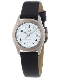 Regent Damen-Armbanduhr XS Analog Quarz Leder 12090192