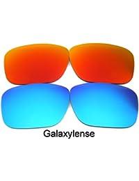Galaxylense lentes de repuesto para Oakley Holbrook azul y rojo Color Polarizados, 2 Pares