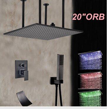 Galvanik Retro Wasserhahn Groß- und Einzelhandel mit LED-Öl eingerieben Bronze 20