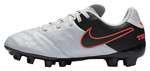 Nike Jungen JR Tiempo Legend VI FG Fußballschuhe, Silber Orange (Pure Platinum/Schwarz-Hypr Orng), 38 EU -