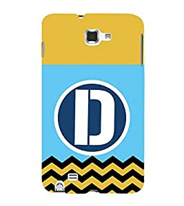 HiFi Designer Phone Back Case Cover Samsung Galaxy Note N7000 :: Samsung Galaxy Note I9220 :: Samsung Galaxy Note 1 :: Samsung Galaxy Note Gt-N7000 ( D Alphabet Colorful Pattern Design )