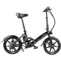 Fiido D3s velocità Variabile Bicicletta Elettrica Pieghevole con Shimano RD-TY300 con Batteria da 7,8ah di Grande capacità,La velocità Massima è di 25 km/h, E-Bike(Nero)