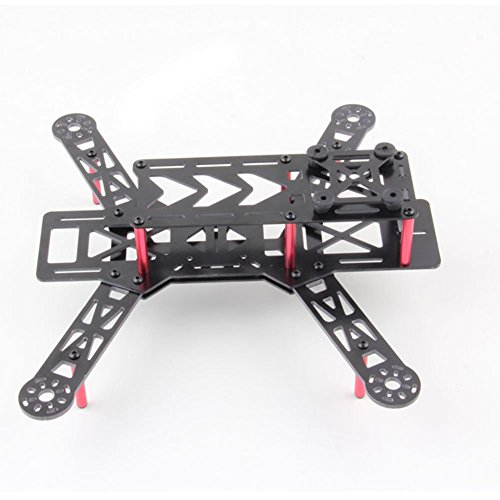 Frog Studio Home RCmall Glass Fiber Mini 250 Quadcopter Frame Kit 4 Axis H Quad Frame for FPV Multirotor Part (Quad Mini H 250)