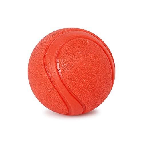 LOSVIP Haustier Katze Hund Durable Einfarbig Pet Spielzeugball Gummi Solide(Orange-3,S)