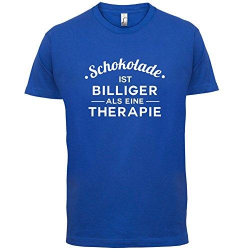 Schokolade ist billiger als eine Therapie - Herren T-Shirt - 13 Farben Royalblau