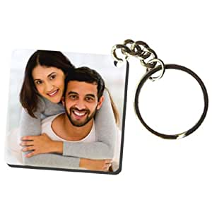 Exciting Lives Multicolored Personalised Photo Keychain