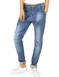 Bestyledberlin pantalon en jean pour femmes, jean baggy j53kw