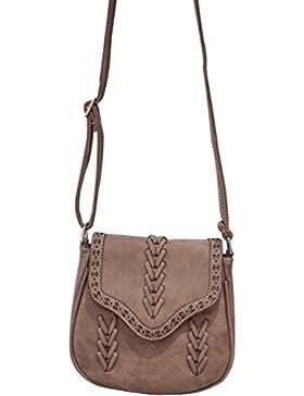 YouPue Damen Handtasche Retro Kuriertasche Kleine Clutch Tasche Umhängetasche Pu-Leder Schultasche Tragetaschen