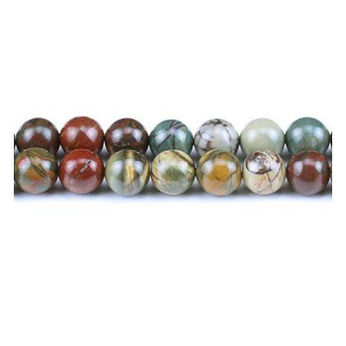 Filo 45+ misto diaspro picasso 8mm tondo liscio perline - (gs1467-2) - charming beads