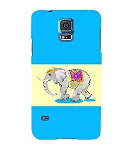 printtech Ethnic Elephant Pattern Back Case Cover for Samsung Galaxy S5 G900i::Samsung Galaxy S5 i9600::Samsung Galaxy S5 G900F