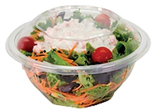 Cuisineonly - Bol salade rond cristal pet pour utilisation froide - sachet de 50 uni long 168mm; haut 73mm, 750cc, .. Cuisine : Usage unique (barquettes plastique - barquettes micro-ondes)
