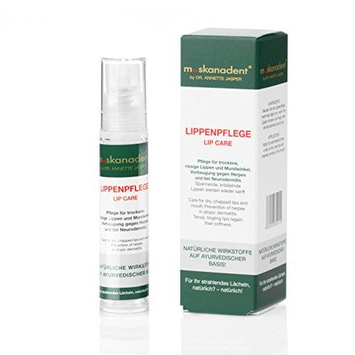 Premium ayurvedische Lippenpflege gegen trockene Lippen von Muskanadent | Lippenbalsam mit Jojoba-Öl, Shea-Butter, Lavendel, Zimt,...