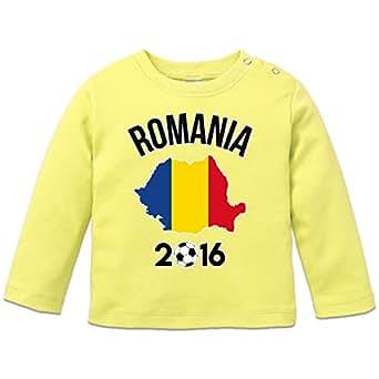 Romania 2016 Fan Baby Langarmshirt by Shirtcity