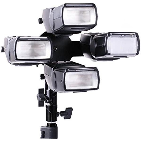 Quenox Professioneller Blitzhalter Für Bis Zu 4 Kamera