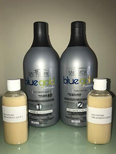 SALVATORE BLUE GOLD PREMIUM (solo 2 x 100 ml di cheratina)