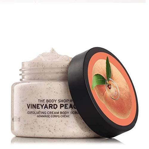 The Body Shop Vineyard Peach Body Scrub unisex, Vineyard Pfirsich Körperpeeling 200 ml, 1er Pack (1 x 200 ml)