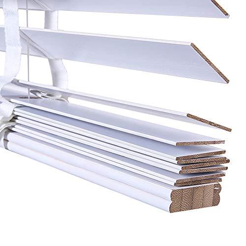 WENZHE Estores De Bambú Venecianas Persianas Estor Enrollable Blanco Prueba De Moho Casa Oficina Quitasol Regulable Sustentable, Tamaño Personalizable (Color : 50mm, Tamaño : 80x120cm)
