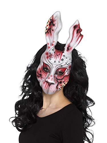 Smiffys Unisex Hasen Maske, One Size, Bunt, 20343 (Schminken Halloween Hase)