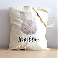 Tote Bag Lapin enfant à personnaliser - sac enfant lapin - sac personnalisable - Dessin Animal ⭐