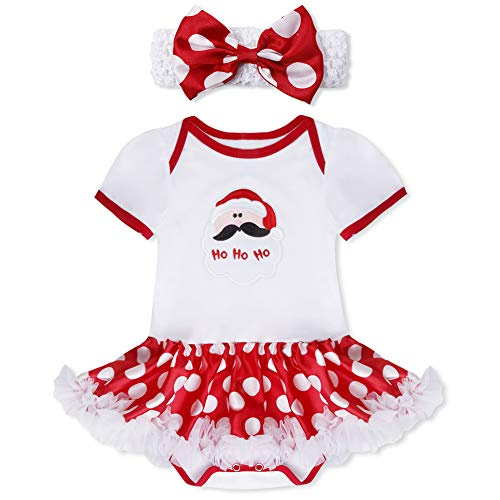 YiZYiF 2tlg. Baby Mädchen Kleid Weihnachten Bekleidung Set -