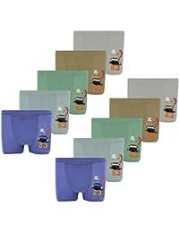 PiriModa Calzoncillos bóxer para niño - Algodón - Disponibles en Tallas de 2 a 16 años y en Packs de 5 o 10 Unidades