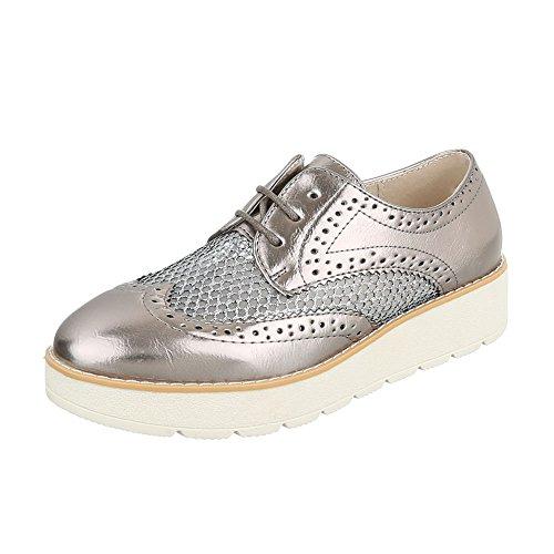 Sapatos Bronze Lace Sapatos design Schnürer Senhoras Baixos 62015 ital Oxford ft8qYcwF