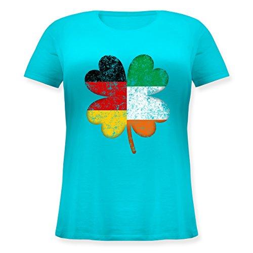 Elf Kostüm Irland - St. Patricks Day - Deutschland Irland Kleeblatt - M (46) - Hellblau - JHK601 - Lockeres Damen-Shirt in großen Größen mit Rundhalsausschnitt