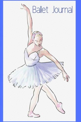 Ballet Journal: Blank-Lined Journal | with Faded Ballerina Image on Interior Pages por Trueheart Designs