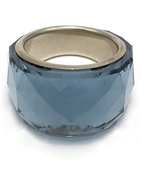 Swarovski Nirvana Petite Montana Blau kristall ring, versilbert, Größe 55 medium 5012899