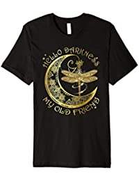 Hello Darkness My Old Friend Dragonfly t-shirt Hippie moon