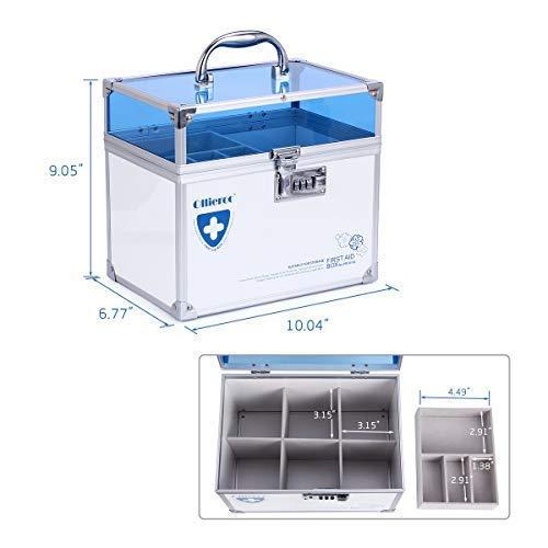 41jEFDoeI0L - Caja de seguridad para medicamentos con cerradura para el cuidado de la salud, joyería, organizador de armario con combinación - doble capa