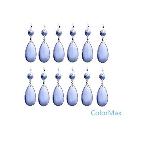 ColorMax 50mm gocce di cristallo ciondolo con chiusura a farfalla lampadario prismi Hanging matrimonio ghirlanda di Natale Confezione da 10(Viola)