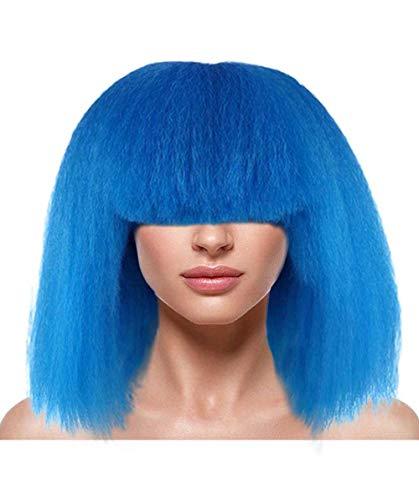 Halloween-Party-Online Popstar Royal Blue Wig MTO HW-1130 (Kids) Royal Blue Pop