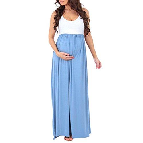 ღ Abiti Premaman Elegante ღ feiXIANG® Senza maniche Abito Elegante donna  gravidanza infermieristica maternità abito di maglia Incinta Maxi Vestito  ... f697ec9f60e