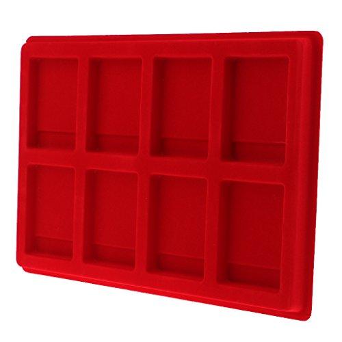 Homyl 8 Slot Schmuck Tablett Schmucktray Münztableau gutes Geschenk, aus Samt, Größe 13 x 9Zoll 8-slot-display-trays