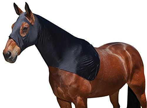 Weatherbeeta Nero cappuccio elasticizzato, Pony, Puledro oppure