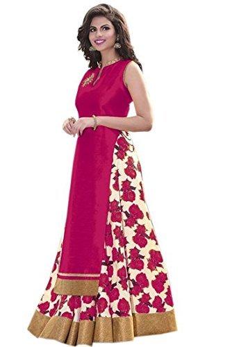 Aika Fashion Benglori Silk Printed Bhagalpuri Lehenga Choli For Women ( Pink )