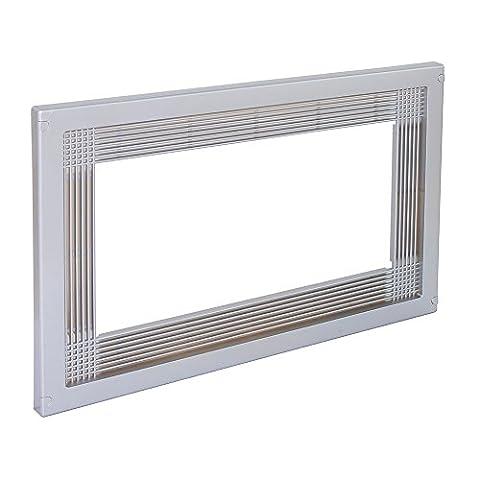 Emuca 8934725 Rahmen zum Einlassen von Mikrowellen in Möbel aus Grauem Kunststoff mit Metallüberzug, 60 cm