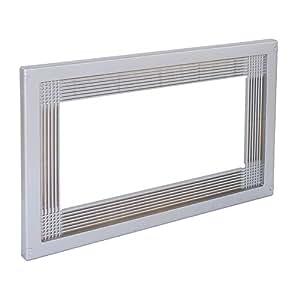 Emuca 8934725 Rahmen zum Einlassen von Mikrowellen in Möbel mit 60 cm aus grauem Kunststoff mit Metallüberzug