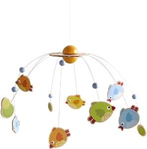 HABA 301254 Juguete Colgantes para bebé Juguetes Colgantes para bebé, Madera contrachapada, Haya, Metal, Cuna de bebé, Niño/niña, Birds, 37 cm