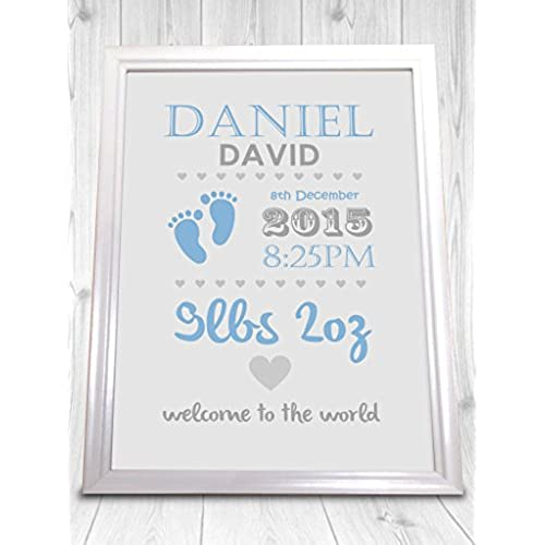 Personalised new baby gifts amazon christening personalised print boy and girl perfect gift new baby present unframed print negle Image collections