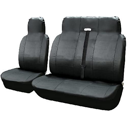 Mercedes Vito 03 On LEATHER LOOK VAN SEAT COVERS SINGLE DRIVERS AND DOUBLE PASSENGERS SET